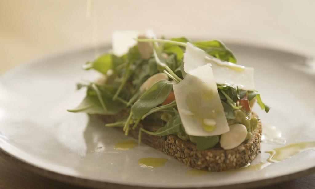 Avocad and Parmesan toast