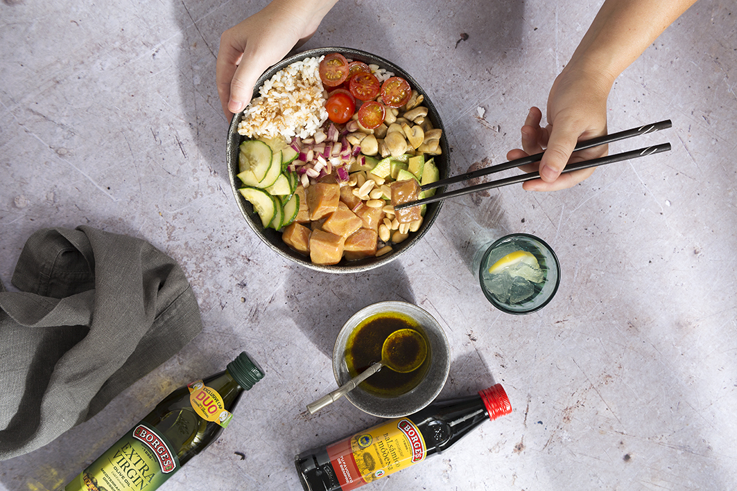 A healthy and easy Poke-bowl