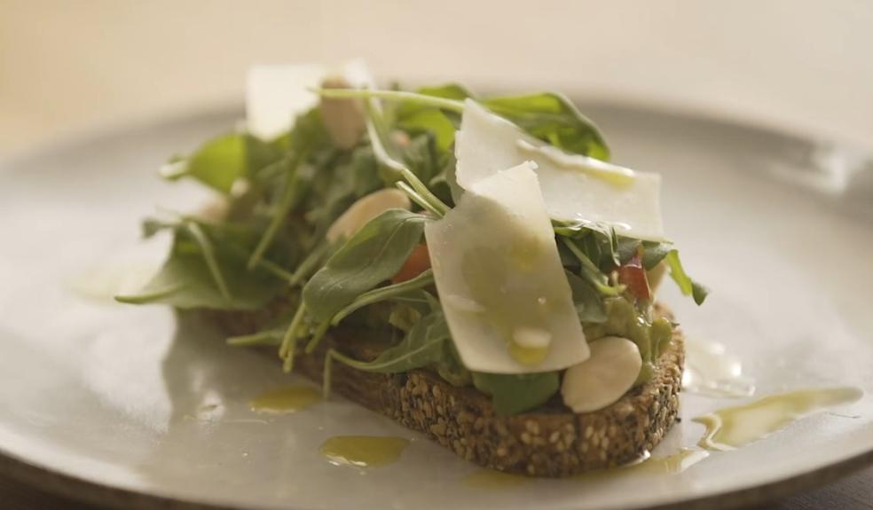 Avocado and parmesan toast