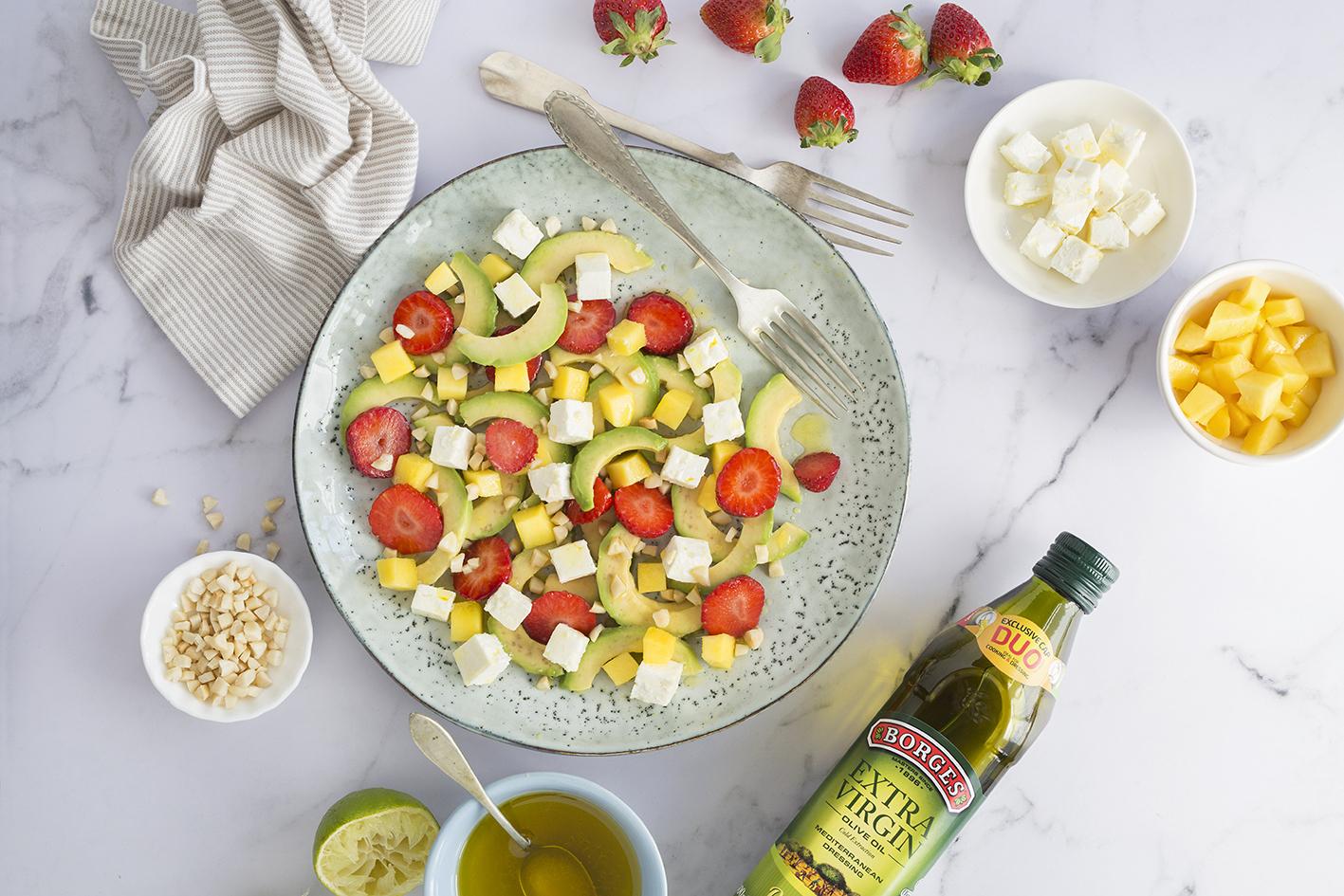 Healthy avocado salad